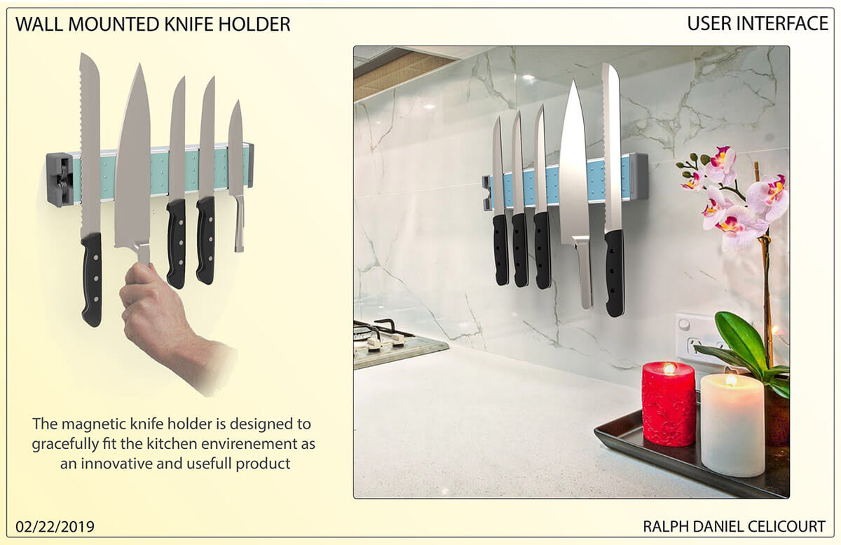 Wall Mounted Magnectic Knife Holder (4)
