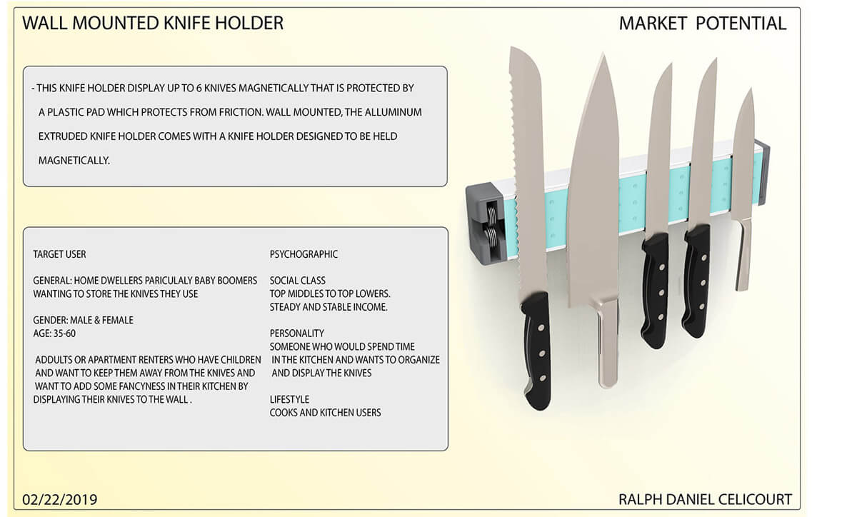 Wall Mounted Magnectic Knife Holder (5)
